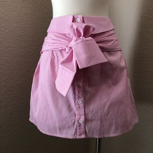 NEW Pink/White Oxford Pinstripe Shirt Skirt
